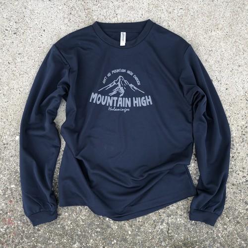 Mountain High T-shirt  Long sleeve  version NAVY