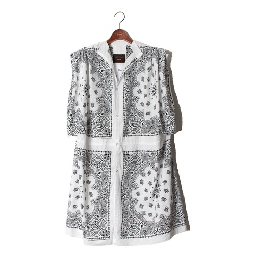 《Ladies商品》 BANDANA COAT (NO SLEEVE) -B(white) <LSD-BM1S2>