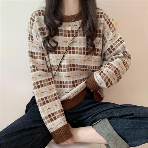 厚手 長袖 コージー 着回し力抜群 韓国ファッション 上品 ニット・セーター・トップス