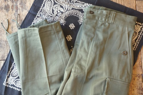 N.O.S. 60's French Military M-64 cargo Pants