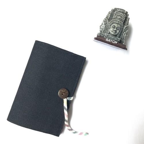 パスポートカバー デニム濃紺<カンボジアから世界へ>