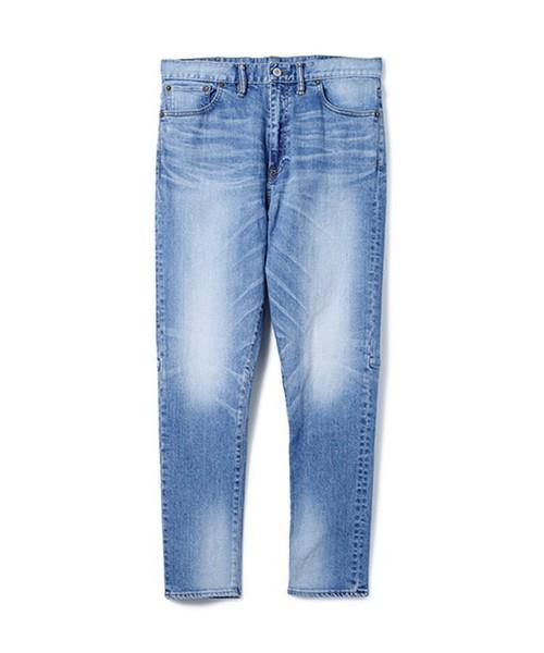 SANDINISTA / B.C. Stretch Damaged Denim Pants - Tapered