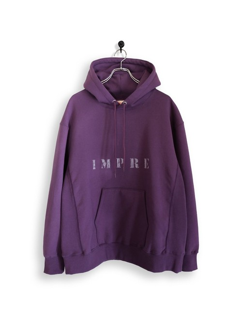 Original Hooded Sweatshirt / stencil / purple