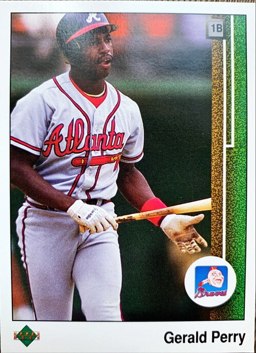 MLBカード 89UPPERDECK Gerald Perry #431 BRAVES