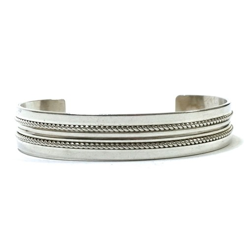 Navajo Vintage Sterling Silver Bangle by Tom Hawk
