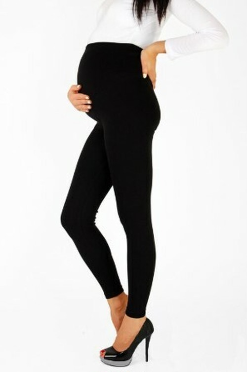 【注文商品】【マタニティー】Maternity Big Size Thin Soft Cotton Leggins Pant【Black】