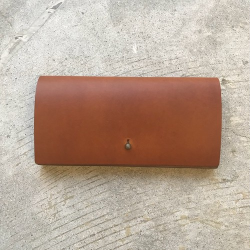 forme long wallet liscio brown