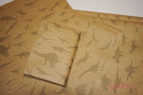 紙製ブックカバー 恐竜