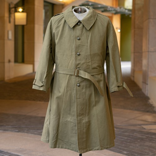 50's FRENCH ARMY MOTORCYCLE  COAT DEADSTOCK - 4