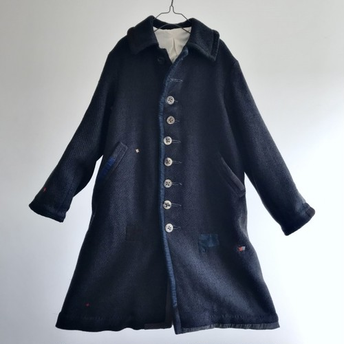 1930-1940 Vintage French Old Tailor-made Wool Barathea Coat