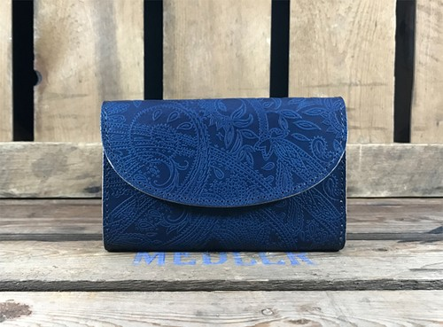 RE.ACT Paisley Indigo Three Fold Wallet