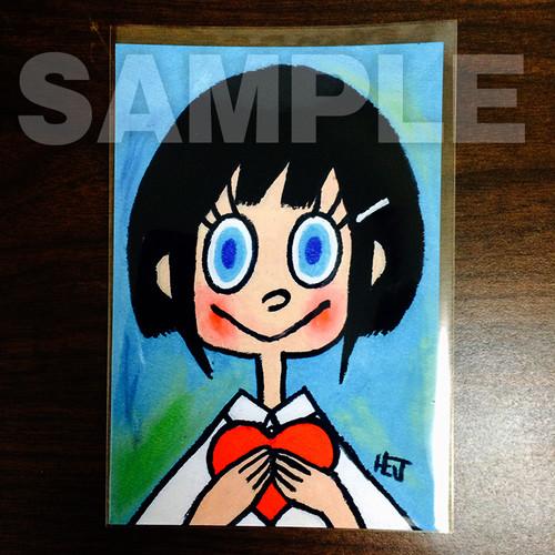 ★チャリティ★ポストカード「ハート 1」