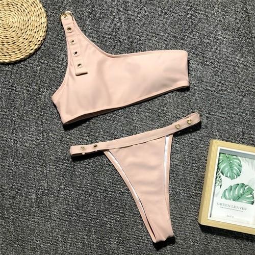 Bikini♡ワンショルダーベルトビキニ ベージュ