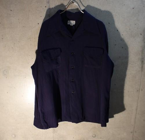 40s Wool Rayon Roop Collor Shirt
