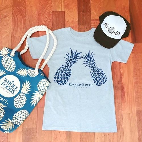 【Kona Bay Hawaii】パイナップルTシャツ/ユニセックス