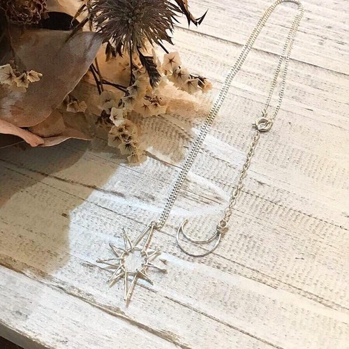 ohana13「sun&moon silver necklace 」