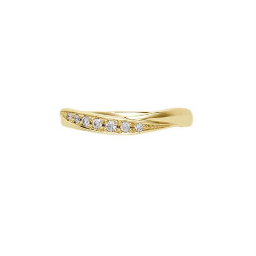 [約1ヶ月でお届け]レディース 3mm幅 K18 結婚指輪     OCTAVE∞Nouer~結び~「手をとりあって ふたりのリズムで 時を結び こころを結ぶ」