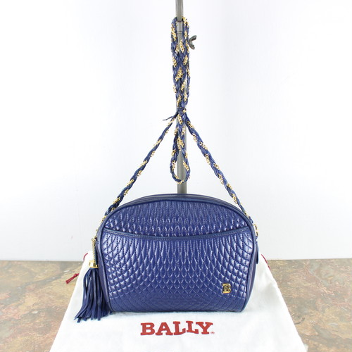 .OLD BALLY MESH LEATHER SHOULDER BAG MADE IN ITALY/オールドバリーメッシュレザーショルダーバッグ 2000000040615