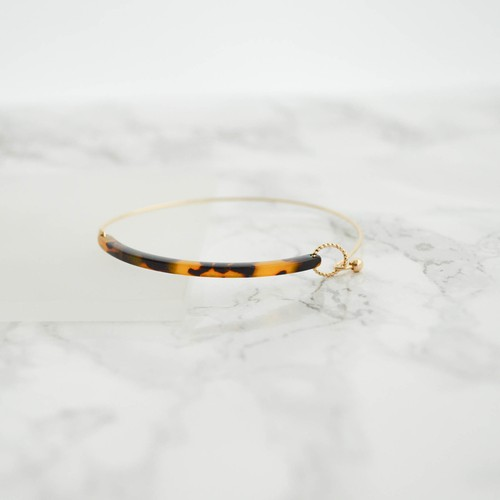 BEKKO WIRE Bangle-brown-