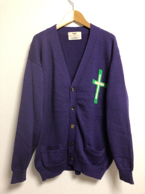 80's Mr.SHINJI cross knit cardigan