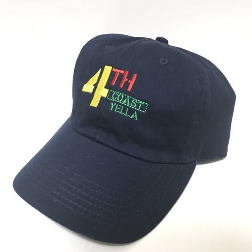 4THCoast Yella 6panel cap (Navy)