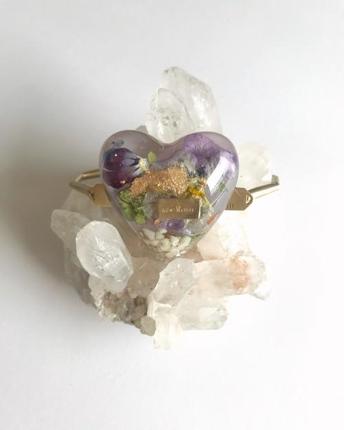 umber heart bracelet
