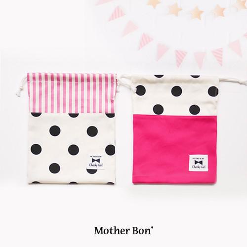 水玉×ピンクの給食袋☆入園入学☆女の子