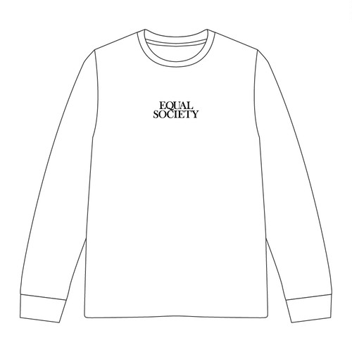 EQUAL SOCIETY Long-Sleeve Shirt Ver.2 WHITE [1915]