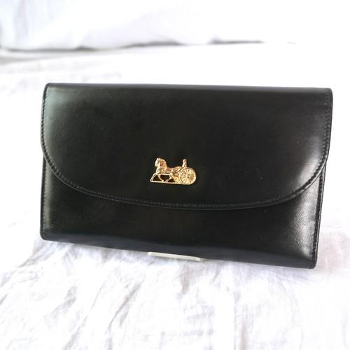 CELINE Black Long Wallet