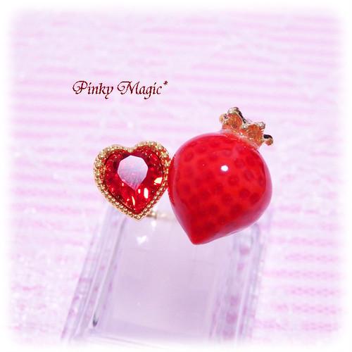 マジカルストロベリーフォークリング*赤イチゴ×赤♡