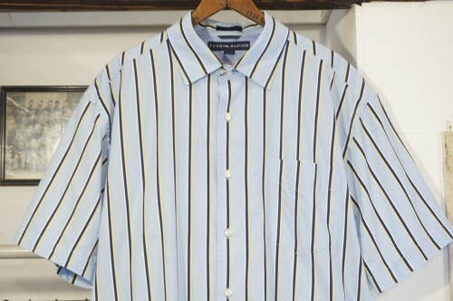 early 00's TOMMY HILFIGER striped s/s Shirt