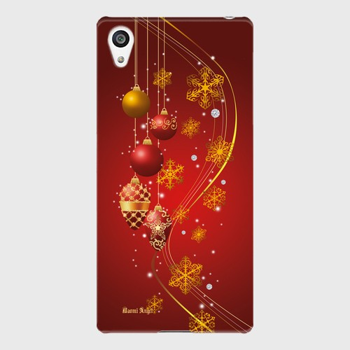 【Xperiaシリーズ】Winter Holiday Gorgeous Red ウィンター・ホリデー ゴージャスレッド ツヤありハード型スマホケース