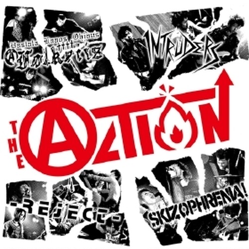 -REJECT-/FOLKEIIS/INTRUDERS/SKIZOPHRENIA / 4 way split 『THE ACTION!!』/ CD