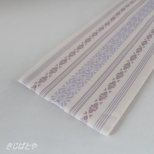 正絹 博多織りの伊達締め 霞