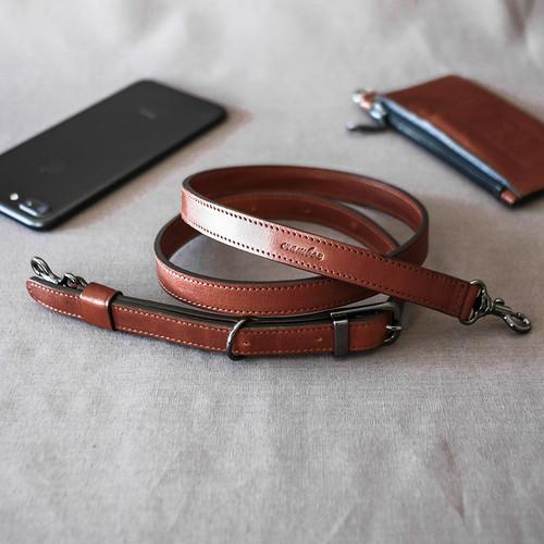 【幅15mm】本革ストラップ カメラストラップ 使い方自由 Leather Strap