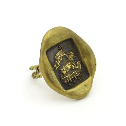 アニュス・デイ 封蝋 リング 真鍮 神の子羊 指輪