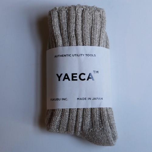 YAECA / ヤエカ COTTON/SILK SOCKS L.BROWN