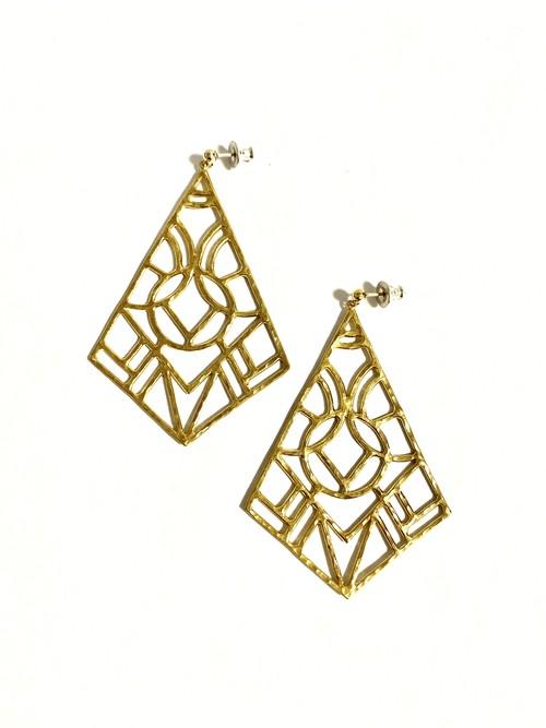 EG008G 【G-8 gold earrings】
