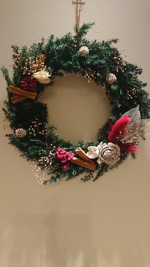 リース*Christmas wreath-Red-