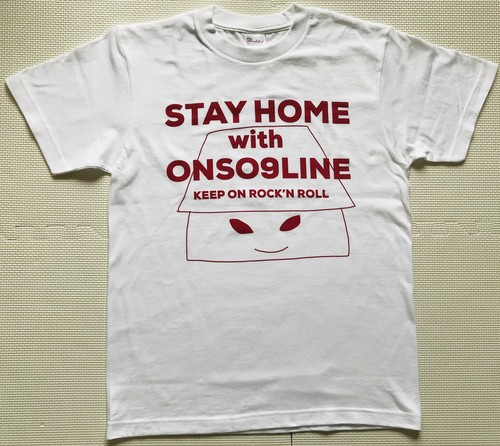 STAY HOME with ONSO9LINE KEEP ON ROCK'N ROLL Tシャツ