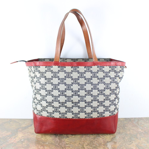 .OLD CELINE BIG MACADAM PATTERNED TOTE BAG MADE IN ITALY/オールドセリーヌビッグマカダム柄トートバッグ 2000000049212