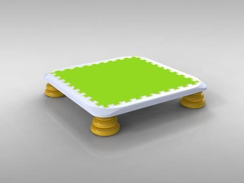 9月25日発送:【訳ありSale】バンバンボード(緑色)子供用やわらかスプリング 安全 で 音が響きにくい 人気 の 室内・家庭用 の おすすめトランポリン Green-S