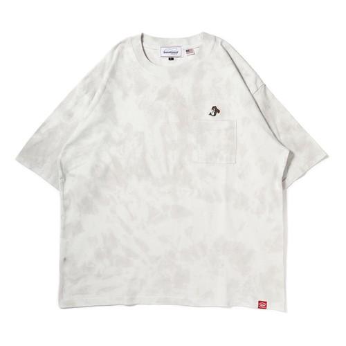 HAND BASS刺繍タイダイTシャツ[GRY]