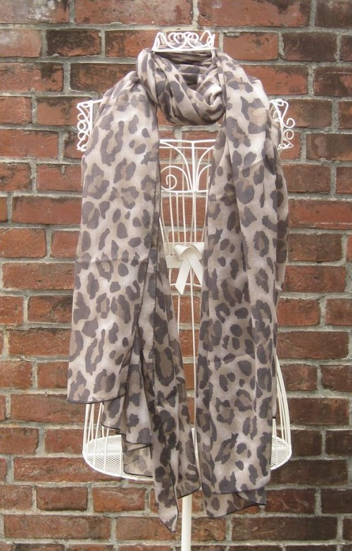 TheDelight LEOPARD STOLE BROWN
