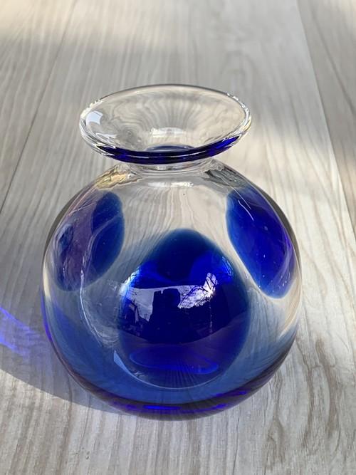一輪挿し〜水玉ブルー〜
