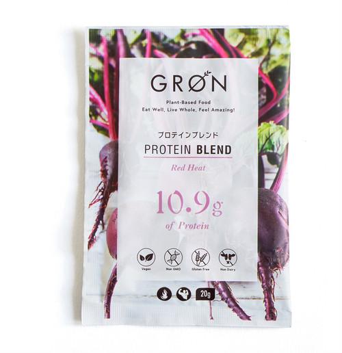 GRON グローン プロテインブレンド RedHeat 20g