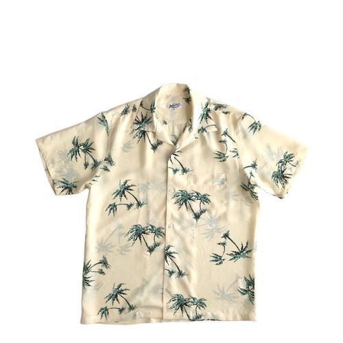 Mountain Men's / オープンアロハシャツ /  Palm tree ivory