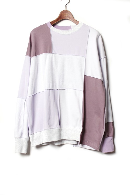 Patchwork LS Tee -L.purple <LSD-BA1T1>