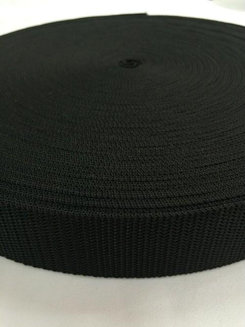 SALE !! ショルダーベルト ストラップに PPベルトテープ 38mm幅 1.7mm厚 黒/白 1巻(50m)