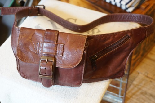 90's handcrafted leather Fanny Pack